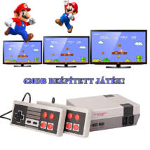 Retro videójáték konzol, 620db beépített játékkal