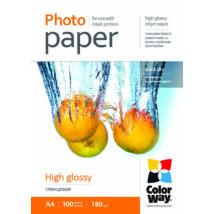 ColorWay Fotópapír fényes 180g, A4, 100 lap