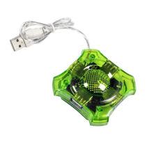 Esperanza 4-portos USB2.0 HUB Green
