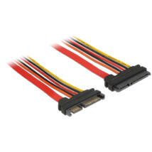 DeLock Extension cable SATA 6 Gb/s 22 pin plug > SATA 22 pin receptacle (3.3 V + 5 V + 12 V) 30cm