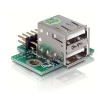 DeLock USB Pinheader male > 2x USB2.0 female up