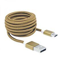 SBOX USB-microUSB kábel Gold 1,5m