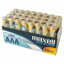 Maxell alkáli ceruza elem (AAA) 32db/csomag