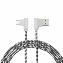 Delight USB Type-C 90° Adatkábel Black/White