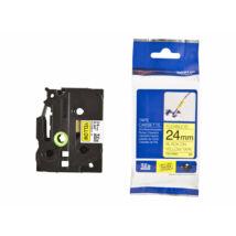 Brother TZE-FX651 laminált P-touch flexibilis szalag (24mm) Black on Yellow - 8m