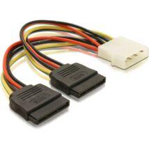 DeLock Cable Power SATA HDD 2x > 4pin male