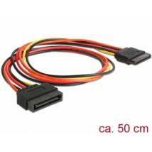 DeLock Extension Cable Power SATA 15 Pin male > SATA 15 Pin female 50cm