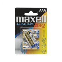 Maxell alkáli ceruza elem (AAA)  4+2db/csomag