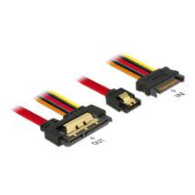 DeLock Cable SATA 6Gb/s 7pin receptacle+SATA 15pin power plug>SATA 22pin receptacle straight metal 30cm