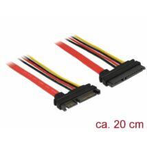 DeLock Extension SATA 6 Gb/s 22 pin plug > SATA 22 pin receptacle (5V + 12V) 20cm cable