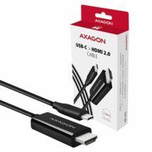 AXAGON RVC-HI2C USB-C > HDMI 2.0 cable 1,8m Black