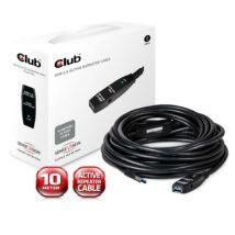 Club3D USB3.0 Active Repeater 10m kábel Black