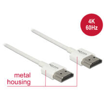 DeLock Cable High Speed HDMI with Ethernet - HDMI-A male > HDMI-A male 3D 4K 0,5m Slim High Quality