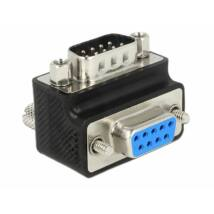 DeLock D-Sub 9 pin male > female 90° angled Nut and Screw changeable Adapter