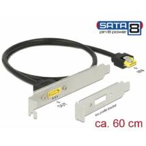 DeLock Slot bracket SATA 6 Gb/s receptacle internal > SATA male pin 8 power external 60 cm