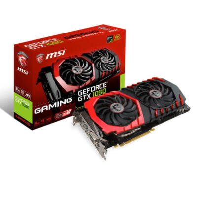 MSI GeForce GTX 1060 6GB GDDR5 192bit PCIe (GTX 1060 GAMING 6G) Videokártya