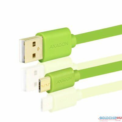 AXAGON USB2.0 A-M - microUSB-M 2m Green