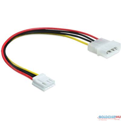 DeLock Cable Power 4 pin male > 4 pin floppy female 24cm