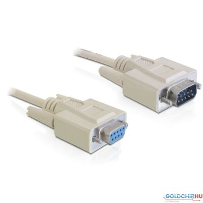 DeLock Cable Serial RS-232 Sub-D9 male > RS-232 Sub-D9 female 2m extension