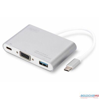 Digitus DA-70839 USB Type-C VGA Multiport Adapter 3-Port