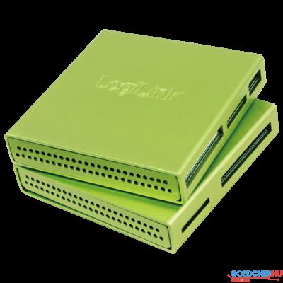 Logilink CR0021 USB2.0 Alu CardReader Green