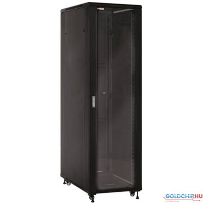 "WP Standing Network Rack RNB Series 19"" 22U 600x600mm Mounted, Black RAL 9005"