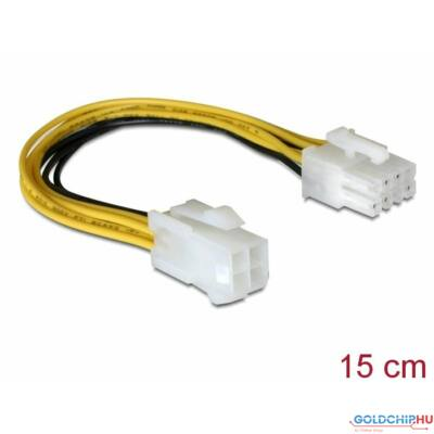 DeLock Cable Power 8pin EPS > 4pin ATX/P4