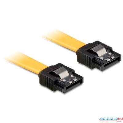 DeLock Cable SATA 6 Gb/s male straight > SATA male straight 20 cm Yellow Metal