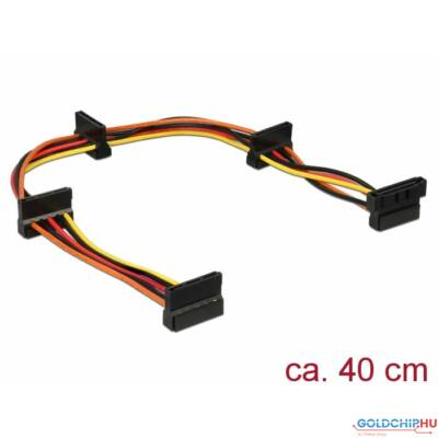 DeLock Power SATA 15 pin plug > 4x SATA 15 pin receptacle 40 cm multicolour cable