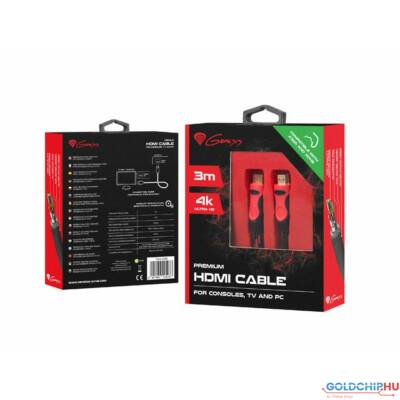 Natec Genesis Premium HDMI 4K cable for consoles,TV and PC 3m
