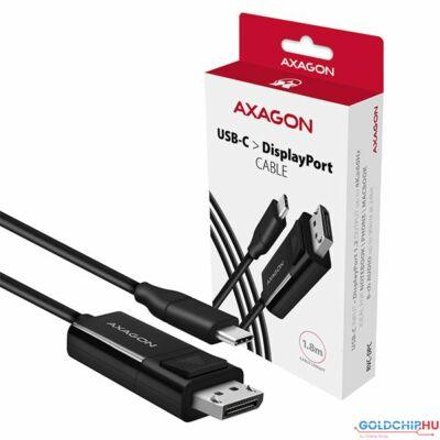 AXAGON RVC-DPC USB-C > DisplayPort cable 1,8m Black