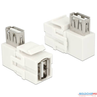 DeLock Keystone Module USB 2.0 A female > USB 2.0 A female 90° angled White