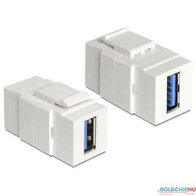 DeLock Keystone module USB 3.0 A female > USB 3.0 A female
