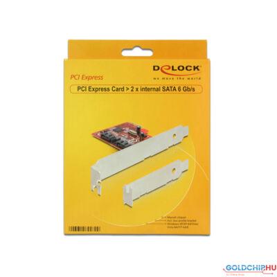 DeLock PCI Express Card > 2x internal SATA 6 Gb/s