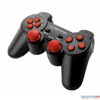 Esperanza Corsair USB gamepad Black/Red PC/PS2/PS3
