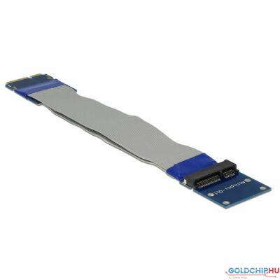 DeLock Extension Mini PCI Express / mSATA male > slot riser card with flexible cable 13cm
