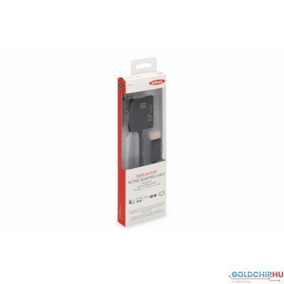 Ednet DisplayPort - DVI-I (Dual Link) Adapter/Converter cable 0,2m Black