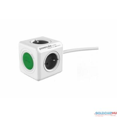 Allocacoc PowerCube Extended 1,5m + Switch White/Green