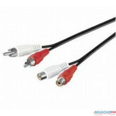 Noname 2RCA hosszabbító audio kábel 1,5m