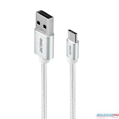 ACME CB2041S USB type-C 1m kábel Silver