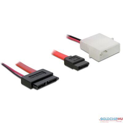 DeLock Cable Slim SATA female > SATA 7 pin + 2 pin power male 30 cm