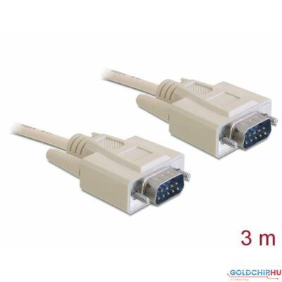 DeLock Serial RS-232 Sub-D9 male > RS-232 Sub-D9 male 3m cable
