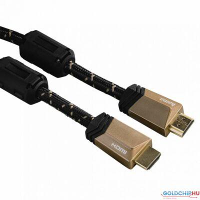 Hama Premium HDMI Cable with Ethernet plug - plug ferrite metal 3m Black