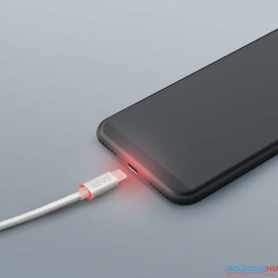 Delight MicroUSB Adatkábel LED White