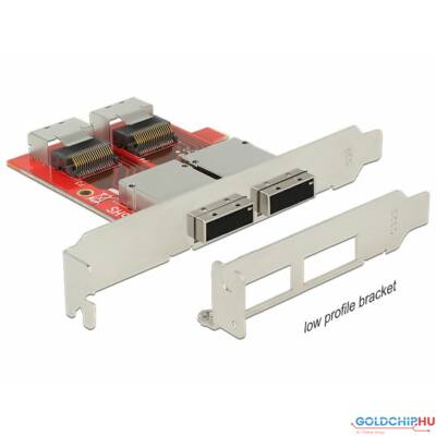 DeLock Adapter 2xMini SAS SFF-8087 female > 2xMini SAS SFF-8088 female Low Profile Form Factor