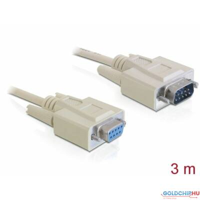 DeLock Serial RS-232 Sub-D9 male > RS-232 Sub-D9 female 3m extension Cable