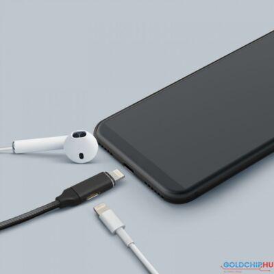 Delight 2 az 1-ben iPhone Lightning Adatkábel Black