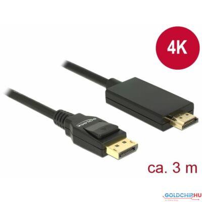DeLock DisplayPort 1.2 male > High Speed HDMI-A male passive 4K 3m cable Black