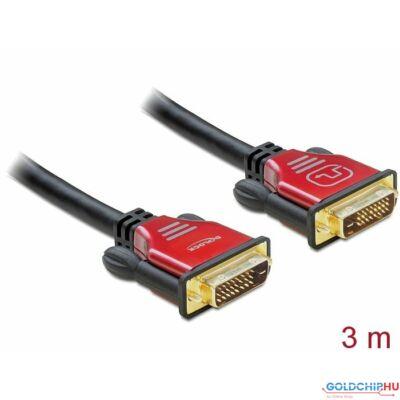 DeLock DVI-D (Dual Link) male > DVI-D (Dual Link) male 3m Redmetal