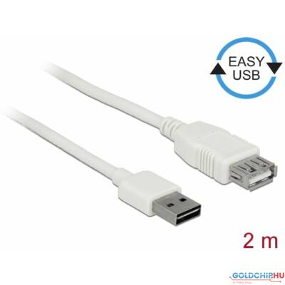 DeLock Extension cable EASY-USB 2.0 Type-A male > USB 2.0 Type-A female 2m White
